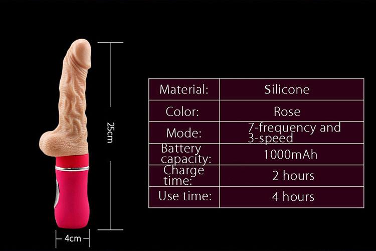 dương vật silicon tự động rung thụt
