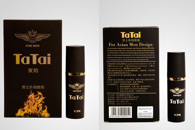 Chai xịt chống xuất tinh trị yếu sinh lý TATAI 10ML - thienduongtinhai.com
