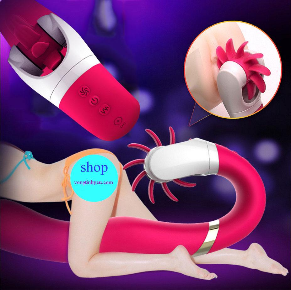 Lưỡi rung silicon kích thích massage điểm g cao cấp