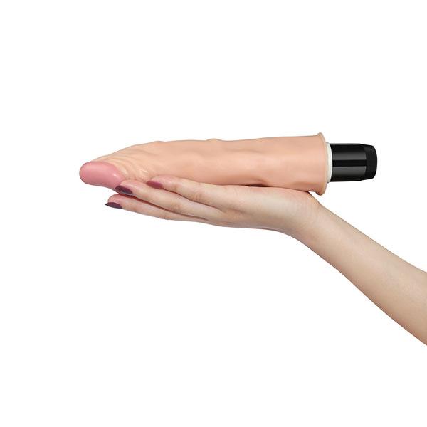 Dương vật giả cầm tay silicon rung LOVETOY REAL FEEL FLEXI 9.5