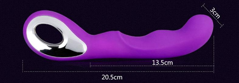 Máy massage âm đạo cầm tay silicon 10 chế độ rung LAELSO 10 CHẾ ĐỘ