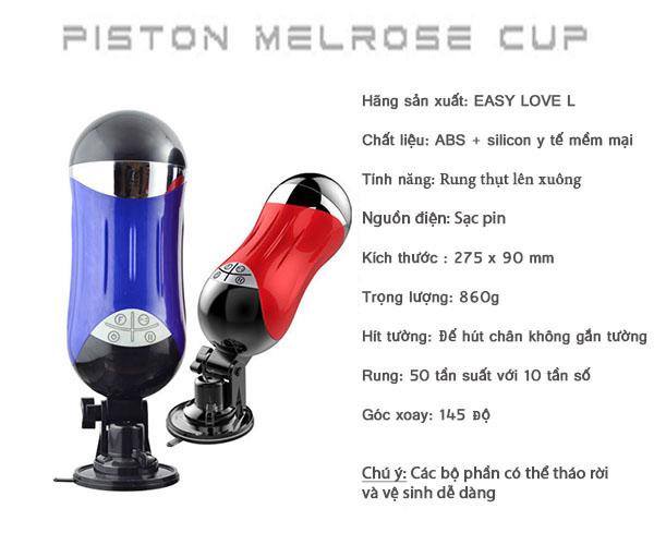 Âm đạo giả tự động rung thụt đa năng silicon Piston LC Easy Love