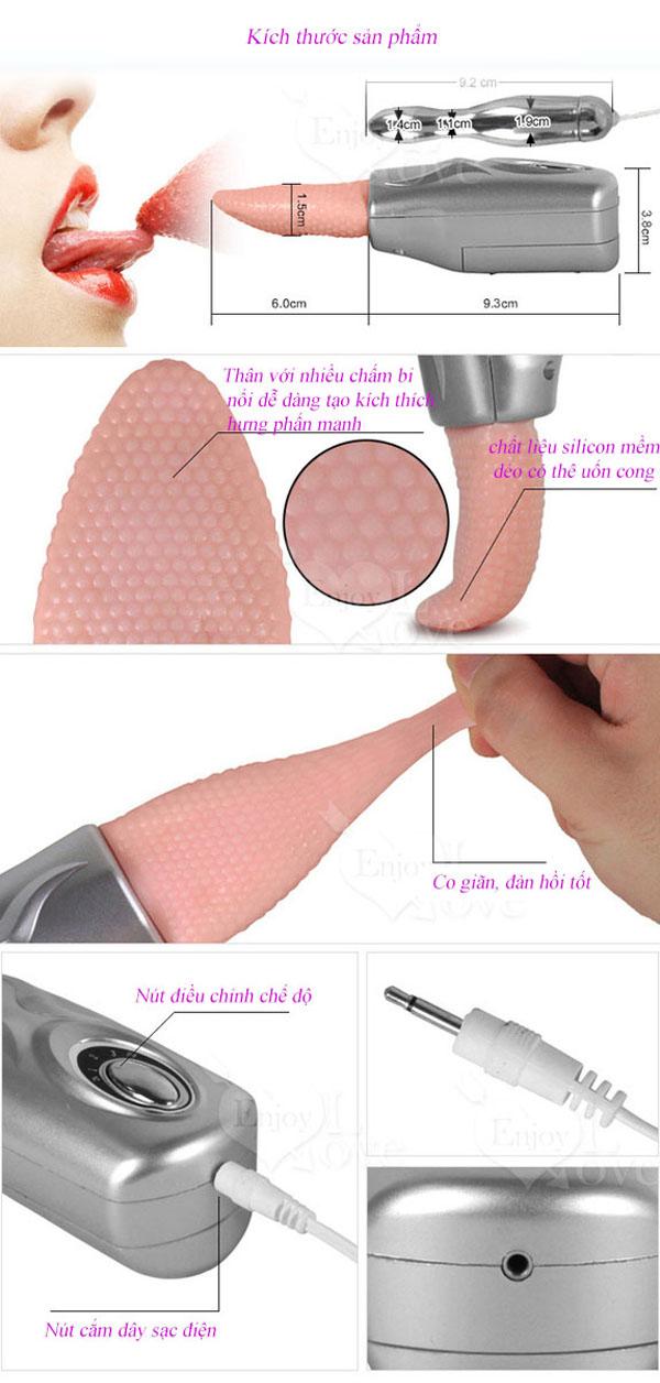 Lưỡi rung kích thích điểm g mini TONGUE